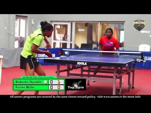Bi Monthly Invitational Table Tennis Championship S/Finals (Fatima Bello vs Rasheedat Ogundele)