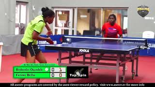 Bi Monthly Invitational Table Tennis Championship S/Finals (Fatima Bello vs Rasheedat Ogundele)