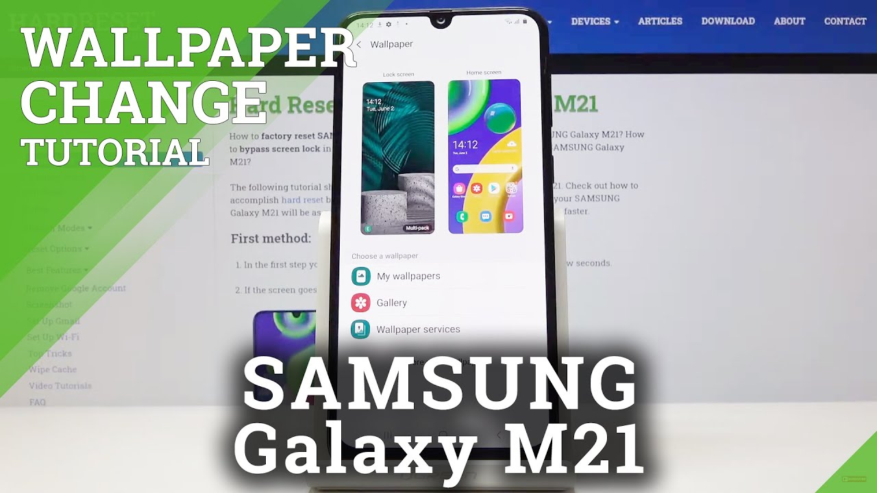How To Set Up New Wallpaper In Samsung Galaxy M21 Change Wallpaper Youtube