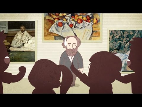 Infographic Paul Cézanne's history by Lovecrub