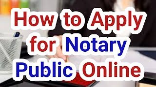 notary public online aṗply || notary advocate kaise bane || नोटरी वकील || Notary public kaise bane