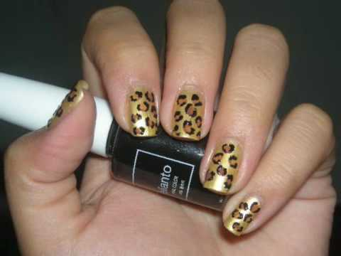 nail design tutorial leopard