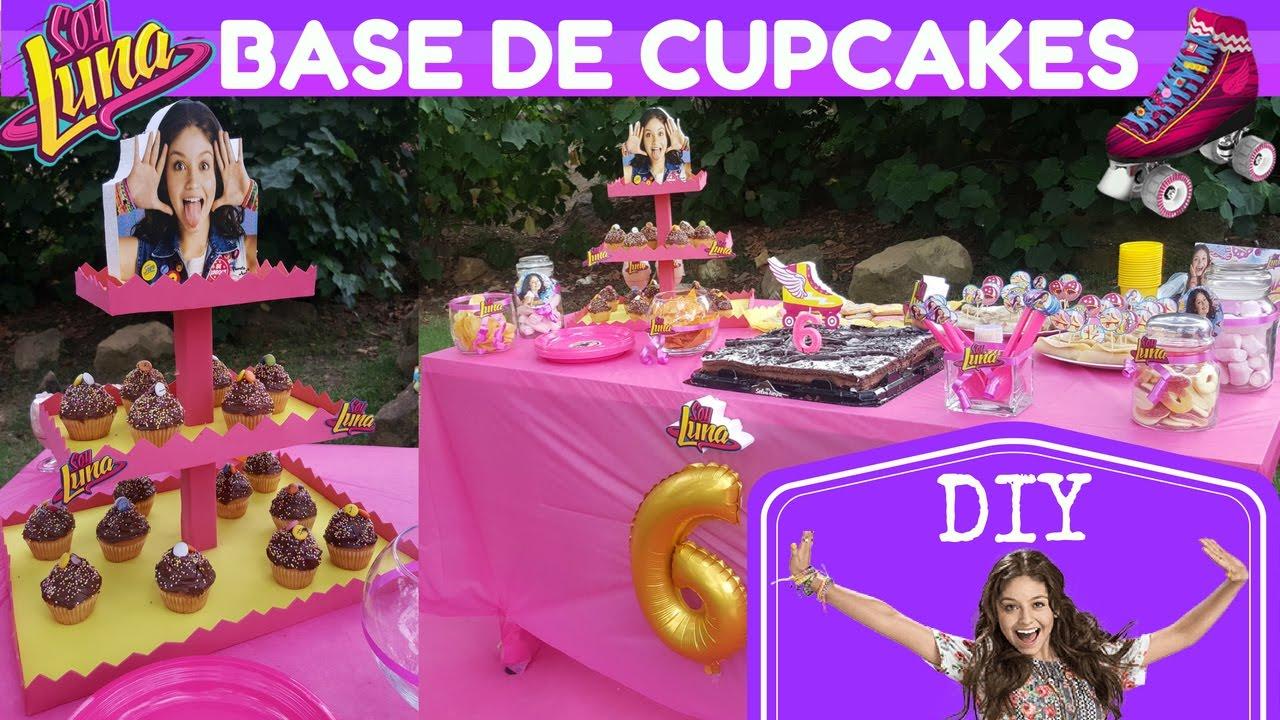 Como hacer base o stand cupcakes cumplea os soy luna de - Como hacer un photocall cumpleanos ...