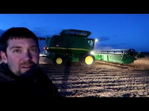 Broken Belt-Harvesting Soy Beans