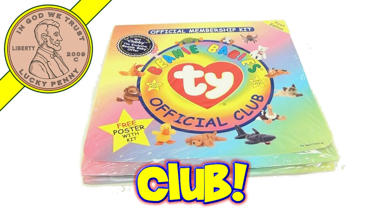 9895a37fb5b TY Beanie Babies Official 1st Edition Membership Club Kit - Certificate