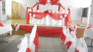 Оформление зала на свадьбу столовая БарГУ в авиагородке