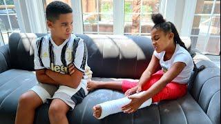 Girl BREAKS HER LEG, Big Brother GETS JEALOUS | FamousTubeFamily