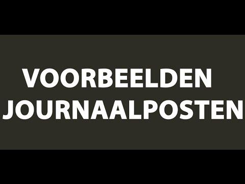 Journaalposten - Video Uitleg Journaal in de Boekhouding