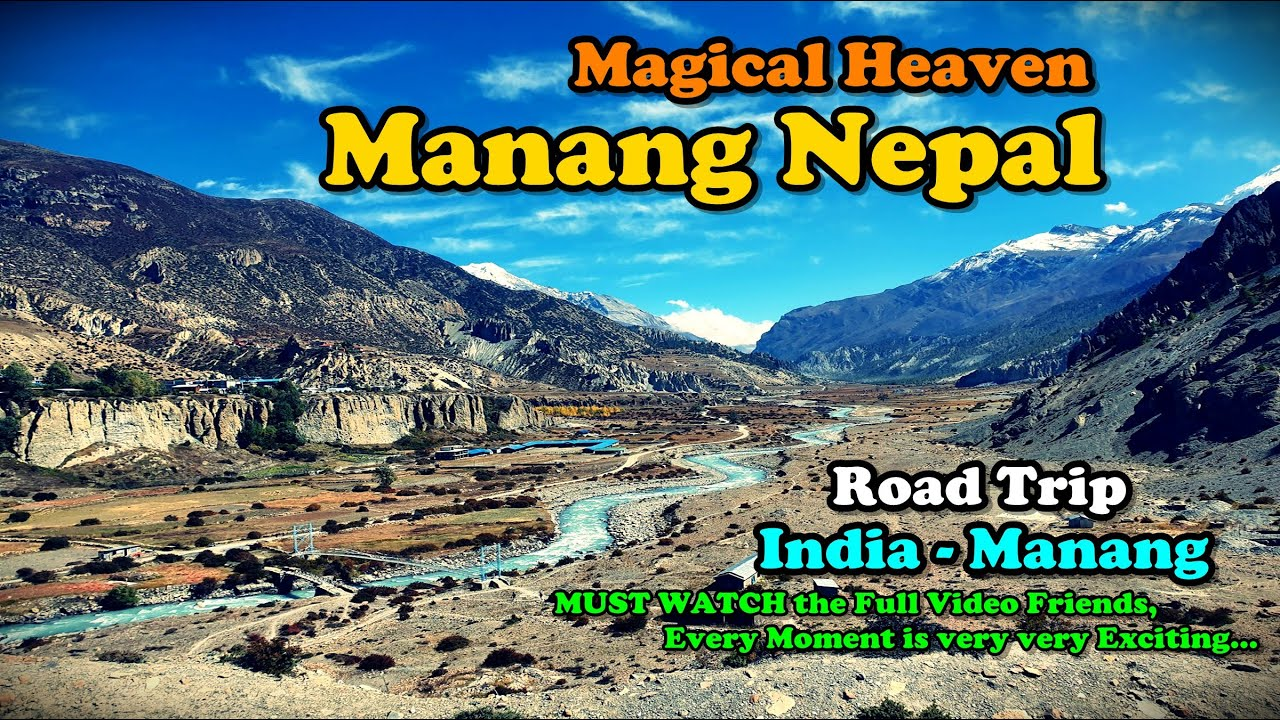 Download WORLD'S MOST DANGEROUS ROAD   Manang, Nepal   Scary Adventure Road Trip   India  - Manang   Part 1