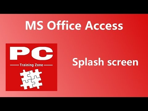 MS Office Access -  Splash Screen