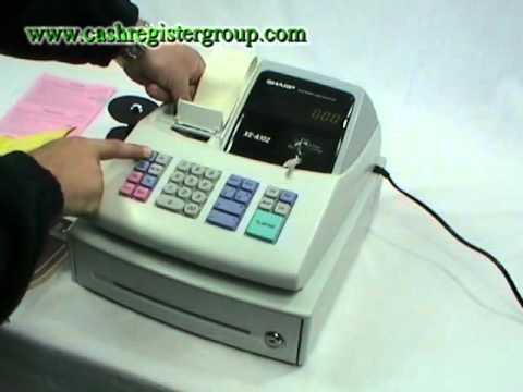 Sharp XE-A102 Cash register Installation video