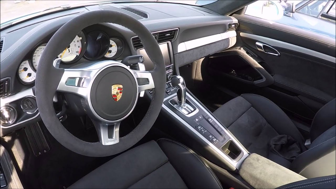 porsche 911 gt3 991 interior wheels walkaround youtube. Black Bedroom Furniture Sets. Home Design Ideas