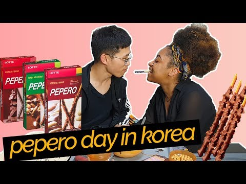 Pepero Day In Korea (How To Make A Pocky Stick!) | AMBW Couple In Korea