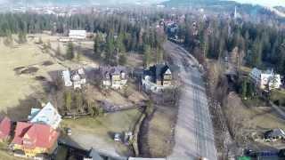 Zakopane Giewont Gubałówka z lotu ptaka 4-2-2014 pogoda temp: 10°C dokument