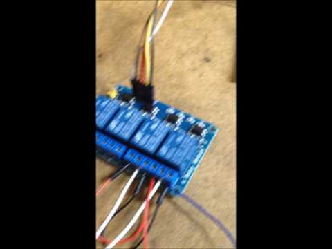 Garage Door Bolt Lock connected to Zwave Relay, Arduino nano, and Smartthings