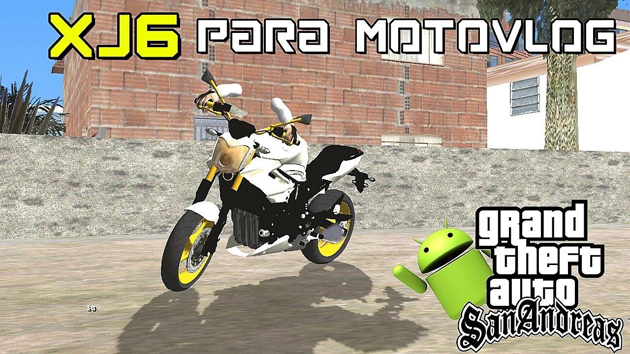 ♛MODS GTA SA ANDROID - MOD XJ6 PARA MOTOVLOG [ COM BRAÇO ...