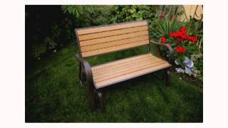 Lifetime Glider Bench Faux Wood Construction # 60055