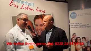 Interview auf der SigthCity Fachmesse für Blinde und Sehbehinderte in Frankfurt