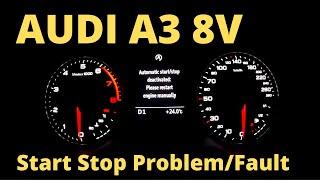 audi A3 Start Stop Fault Engine Problem
