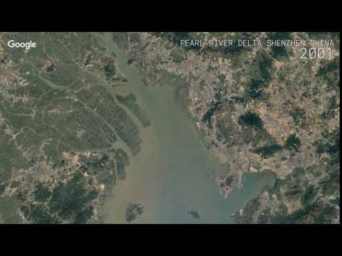 Google Timelapse: Pearl River Delta, Shenzhen, China
