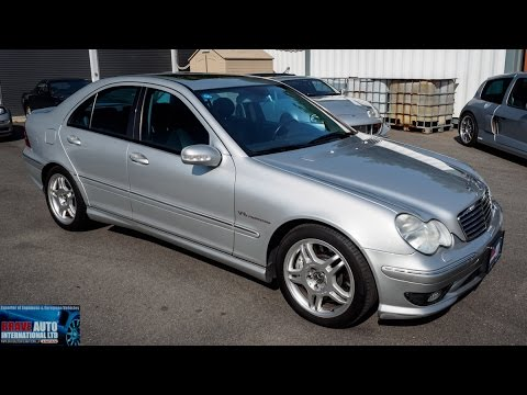 walk around 2002 mercedes benz c32 amg japanese car auction youtube. Black Bedroom Furniture Sets. Home Design Ideas