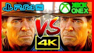 Red Dead Redemption 2, comparatif PS4 Pro vs Xbox One X