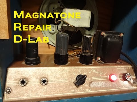 how-to-fix-repair-vintage-magnatone-tube-guitar-amp-power-supply-hum