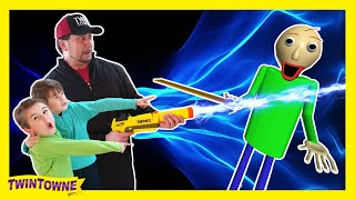BALDI'S BASICS In Real Life vs Fortnite Shrink Ray Gun! Part 1 Mini-Series Family Friendly