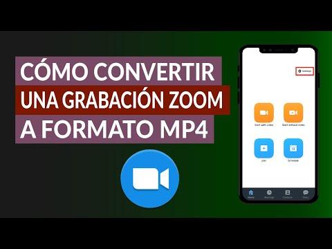 Cómo Convertir una Grabación ZOOM a Formato de Video MP4 Gratis Online