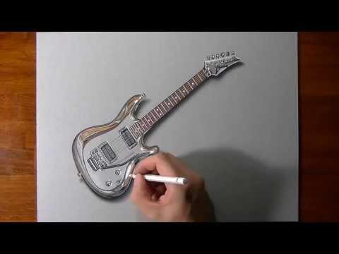 drawing-time-lapse:-joe-satriani's-guitar