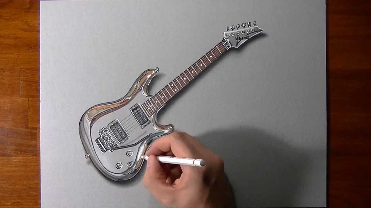Drawing Time Lapse Joe Satriani S Guitar Youtube