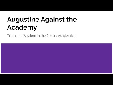 Augustine Against the Academy