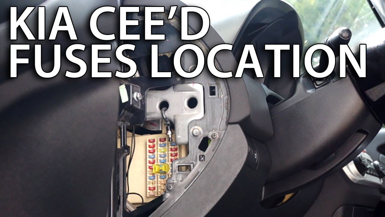 where are fuses and relays in kia cee\u0027d (how to find location) 2011 Mustang Fuse Box