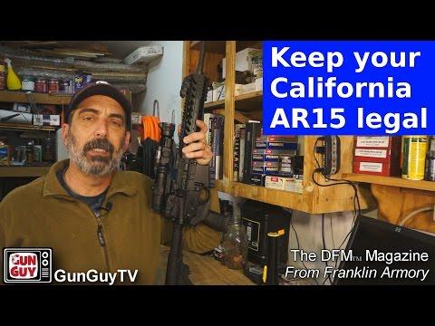 Keep your California AR15 legal with Franklin Armory's DFM Magazine