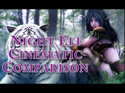 World Of Warcraft - Vanilla and Cataclysm Night Elf Starting Zone Cinematic Comparison