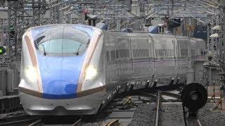 【4K】JR東日本 東北新幹線 東京駅 発着シーン E5系・W7系・E7系〔F22編成〕・E2系