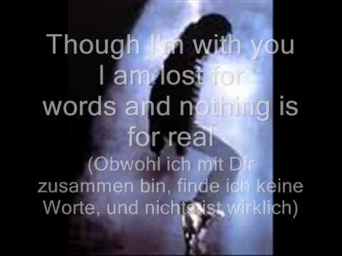 Michael Jackson-Speechless ( with lyrics/ mit text)+ ( german translation/deutsche übersetzung)