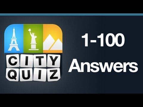 City Quiz Answers Levels 1-100