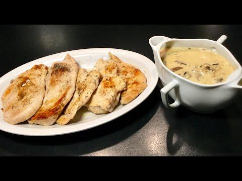recette-express-les-escalopes-de-poulet-sauce-forestiÈre