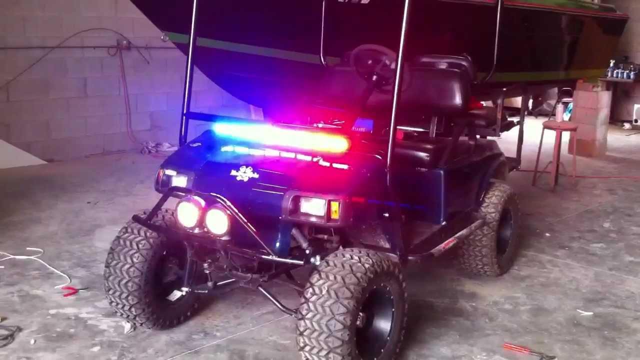 Club Car Golf Cart Police Cop Feniex Python 800 And Python