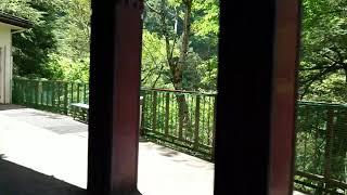 2019/8/14   黒部峡谷鉄道   黒薙駅到着
