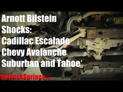 Cadillac Escalade, Chevy Avalanche, Suburban and Tahoe Arnott Front Bilstein Shocks  YouTube