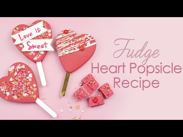 Pink Vanilla Fudge Heart Popsicle Lolly Recipe