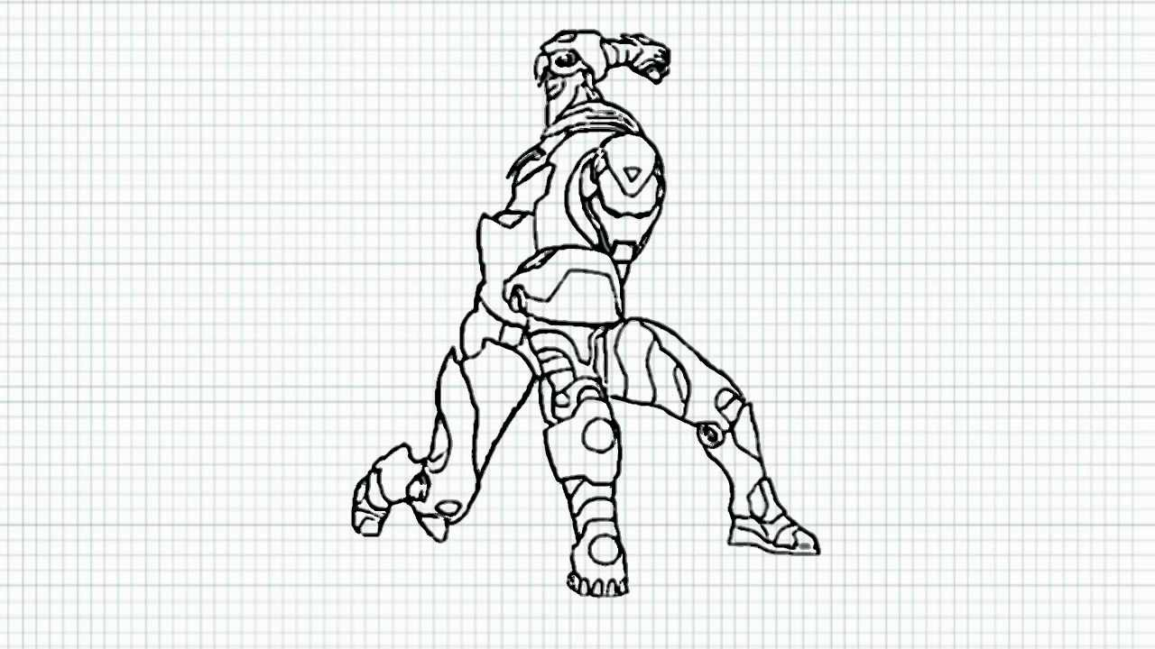 how to draw iron man video ironman