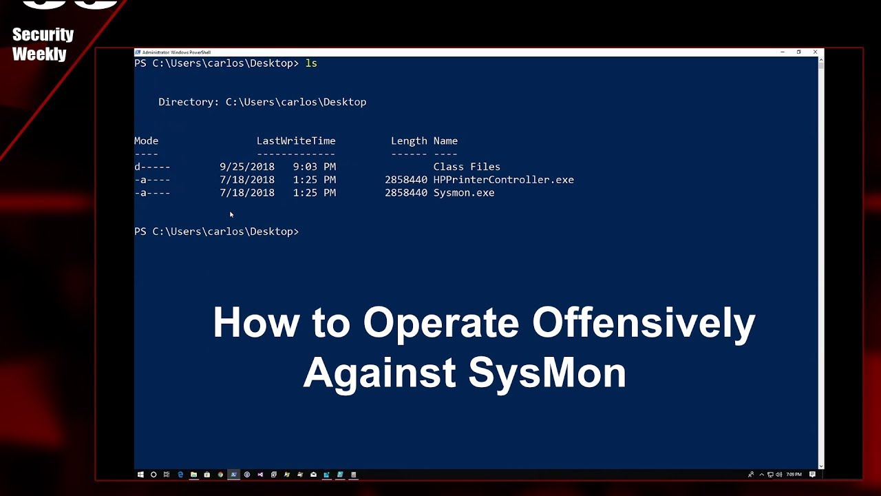 Offensive Operating Against SysMon, Carlos Perez - Paul's