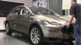Tesla Model X Prototype in the showroom at Santana Row, San Jose