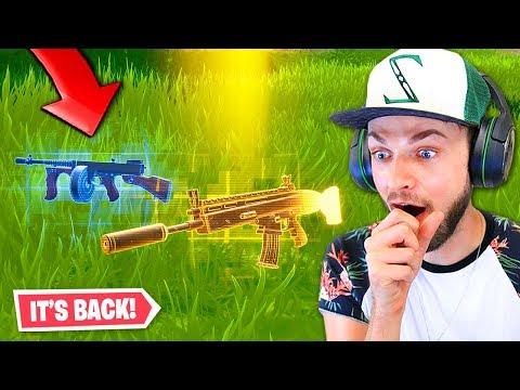 the Drum Gun is *BACK* in Fortnite! Viral Gaming Videos on VIRAL CHOP VIDEOS