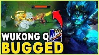 Download WUKONG Q BUGGED! ONE SHOT AT LEVEL 1 WTF RIOT?! (NOT CLICKBAIT) - League of Legends Mp3 and Videos
