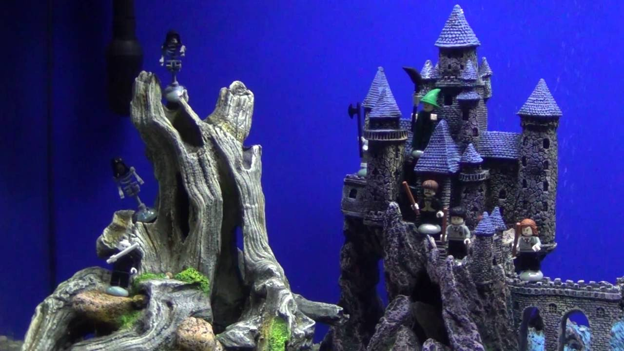 Harry potter aquarium with glofish youtube for Harry potter fish tank