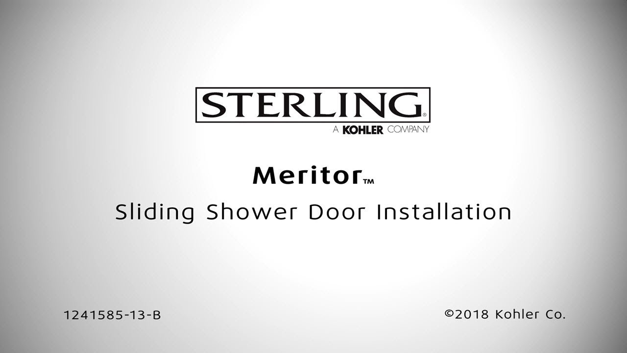 Installation Meritor Sliding Bath And Shower Doors Youtube